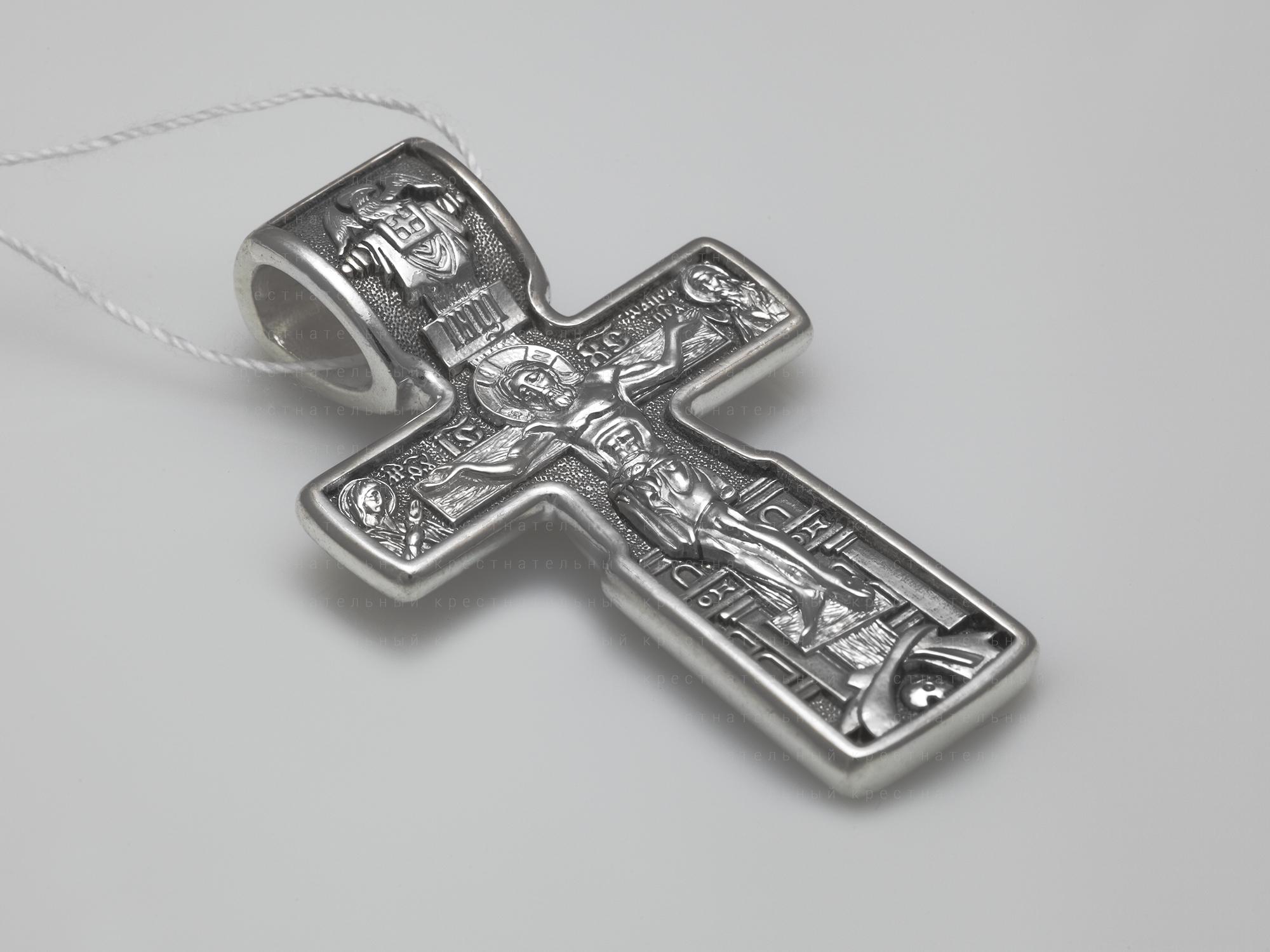 18222. Распятие Христово. Николай Чудотворец. Три Святителя. Православный крест.