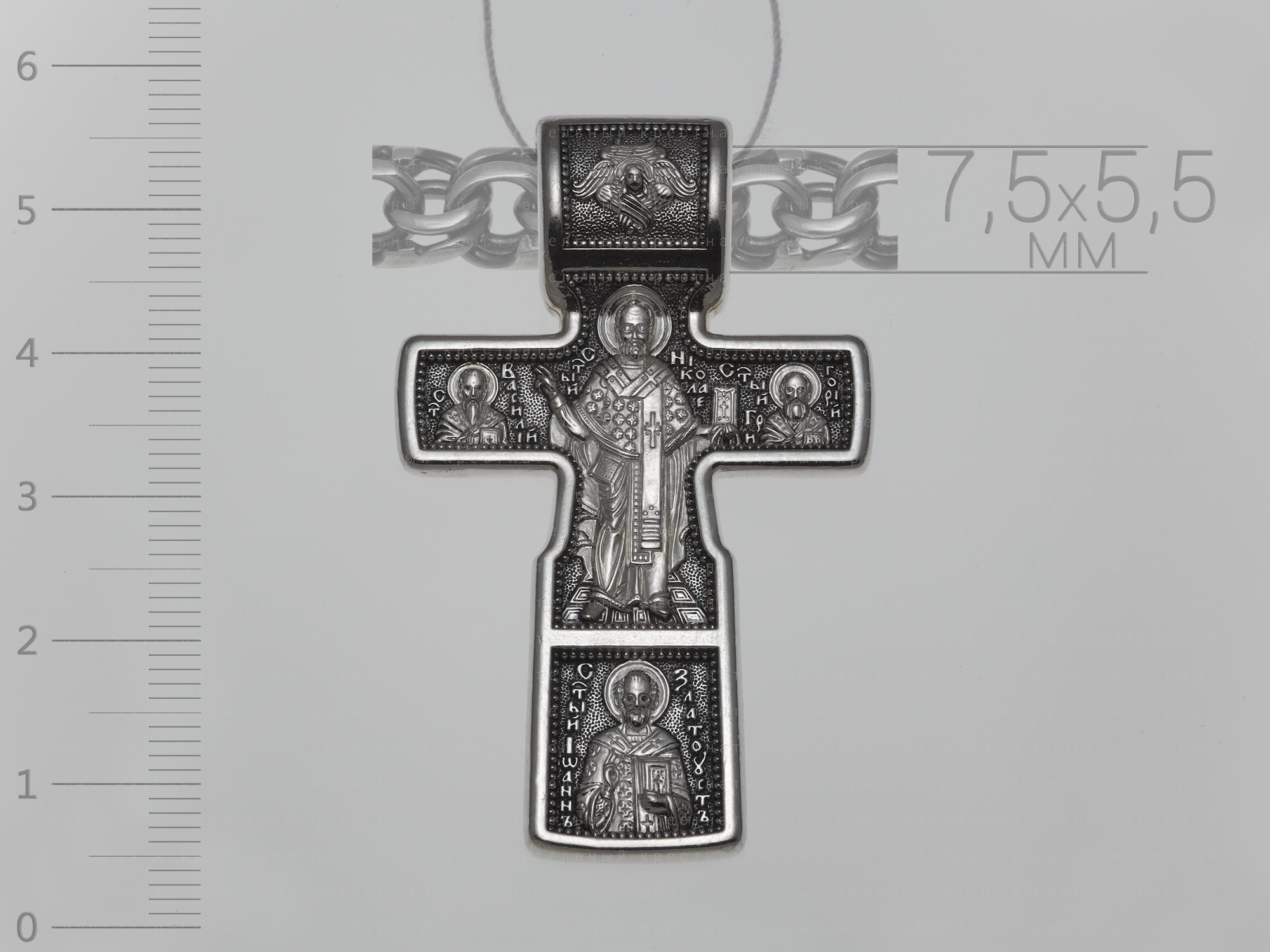 18992. Распятие Христово. Николай Чудотворец. Три Святителя. Православный крест.