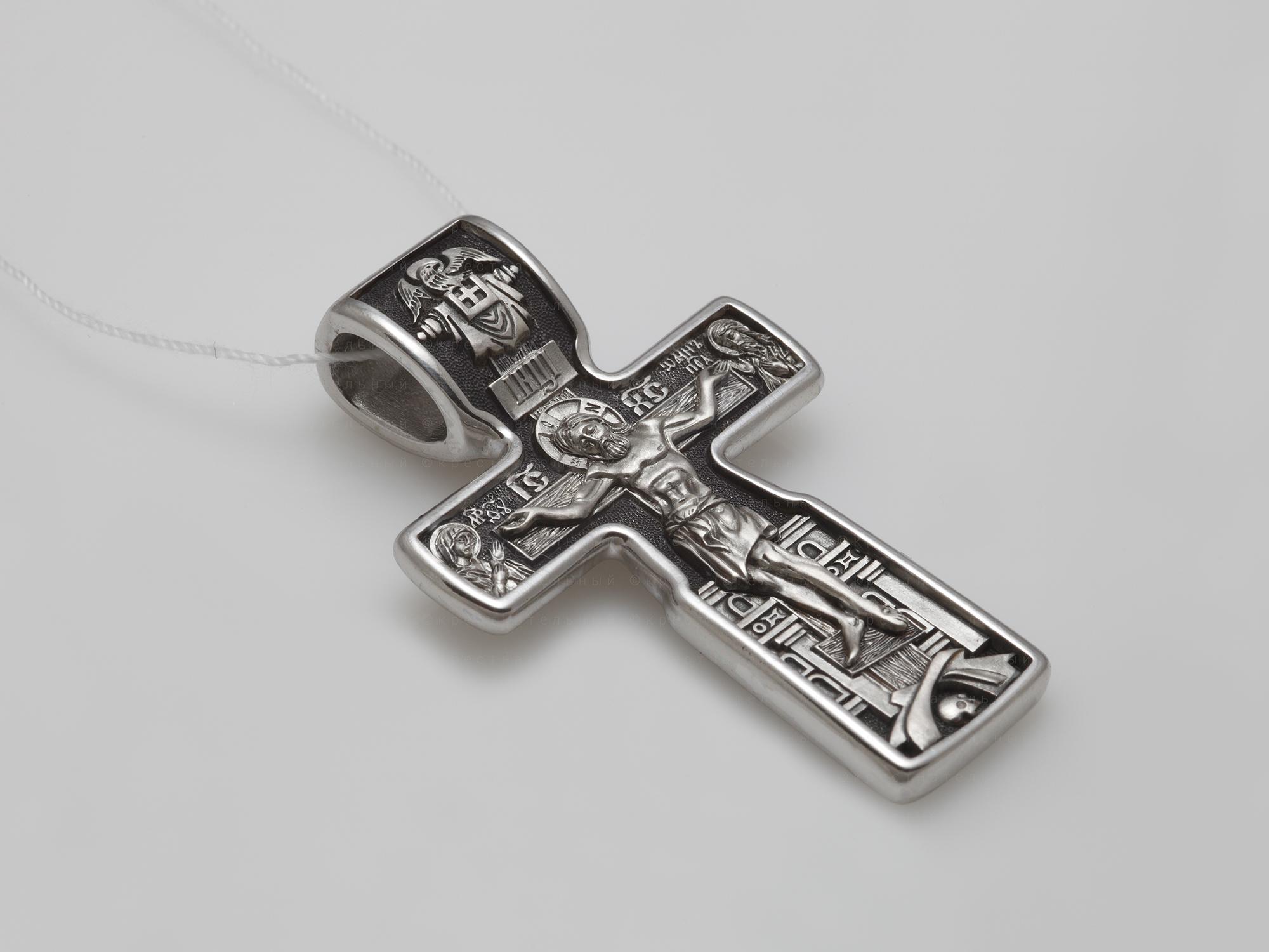38222. Распятие Христово. Николай Чудотворец. Три Святителя. Православный крест.